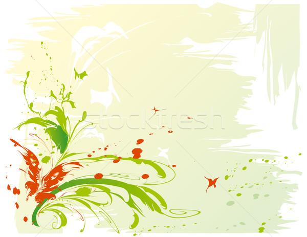 Zdjęcia stock: Streszczenie · motyle · kwiat · Motyl · krajobraz