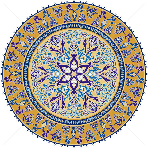 Zdjęcia stock: Arabskie · klasyczny · ozdoba · kwiaty · streszczenie