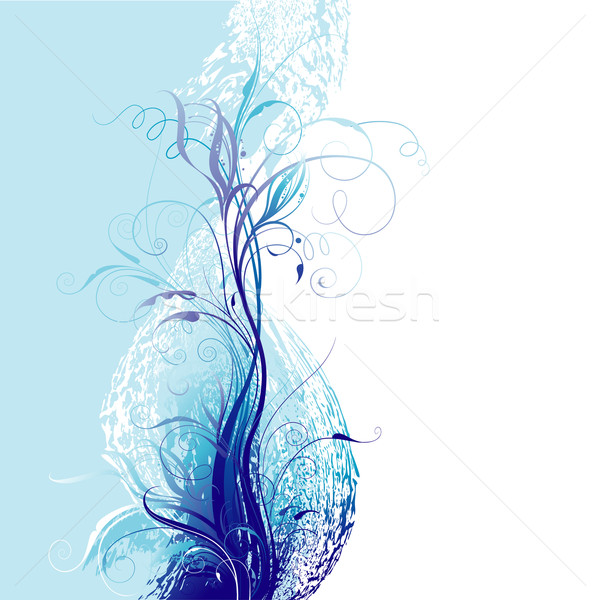 Blue Floral Background Stock photo © jul-and