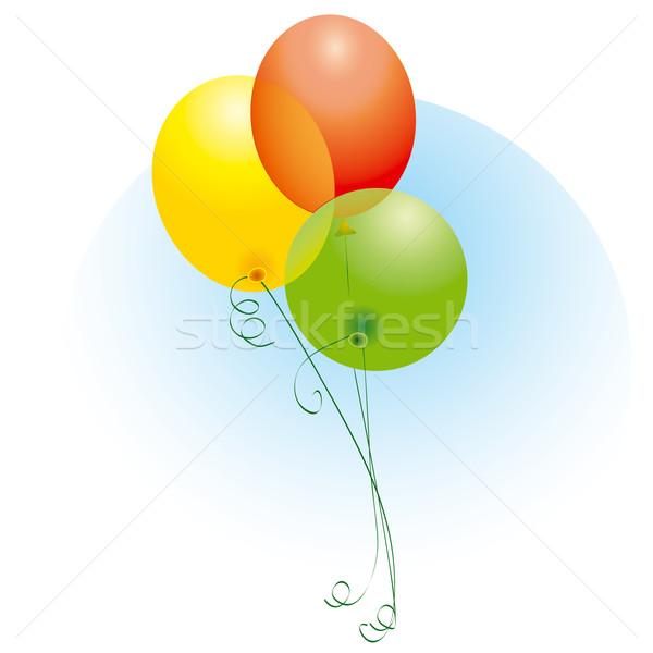 Kolorowy balony strony szczęśliwy urodziny Zdjęcia stock © jul-and