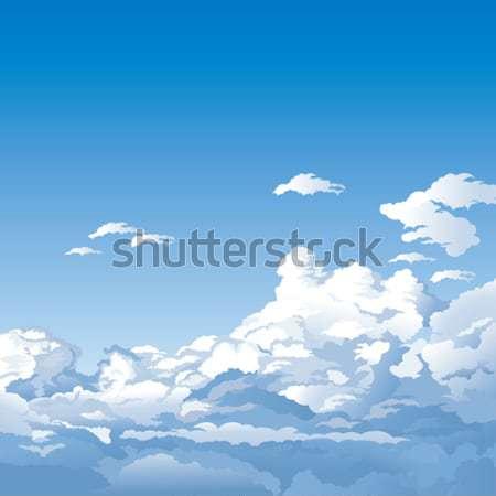 Céu nuvens fundo azul Foto stock © jul-and