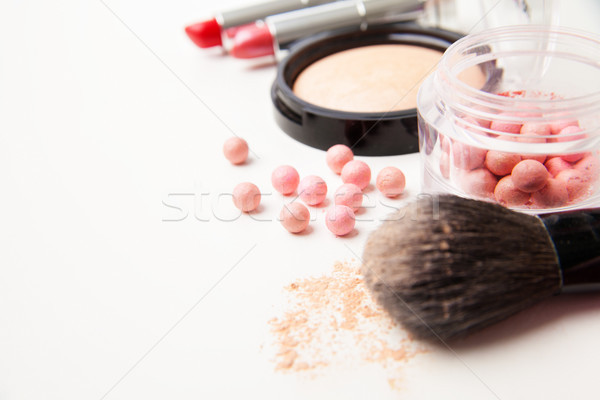 Farklı kadın güzellik kozmetik yalıtılmış yatay Stok fotoğraf © julenochek