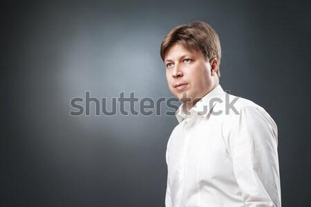 Calm man looking away Stock photo © julenochek
