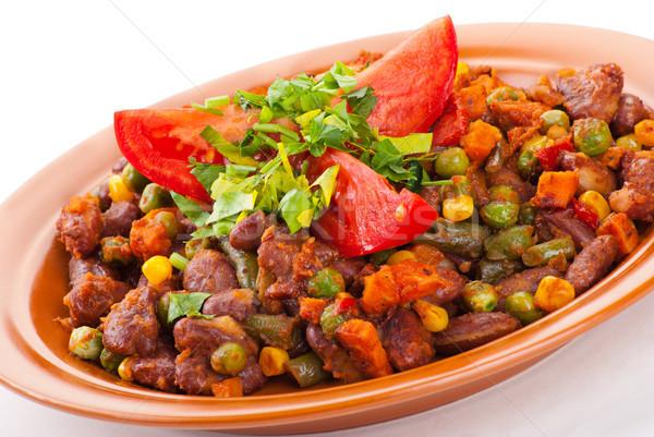Traditioneel Mexicaanse chili nier bonen tomaat Stockfoto © julenochek