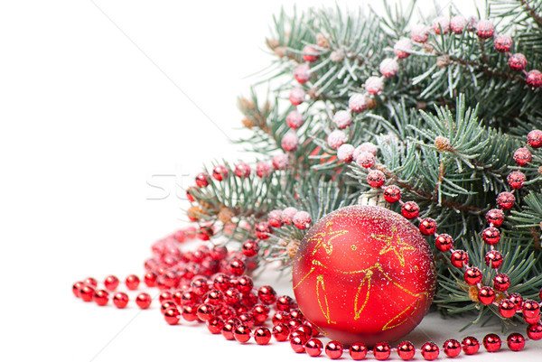 Christmas decoraties tak boom witte kerstboom Stockfoto © julenochek