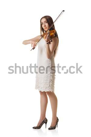 girl in summer dress and hat holding guidebook Stock photo © julenochek