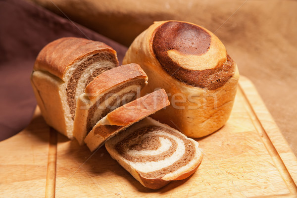Closeup of traditional Homemade Marble Cake  Stock photo © julenochek