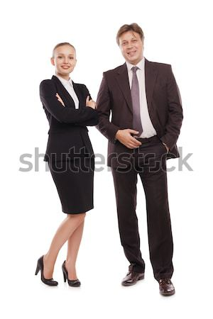 bright picture of man and woman in formal clothes. Stock photo © julenochek