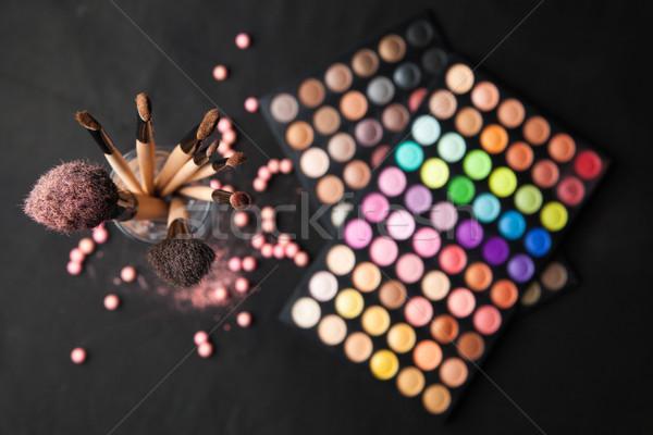 Palet geïsoleerd zwarte ingesteld top Stockfoto © julenochek