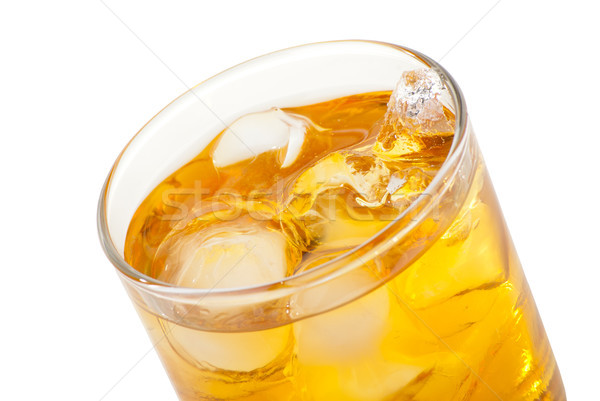Foto stock: Whisky · aislado · blanco · fiesta · vidrio