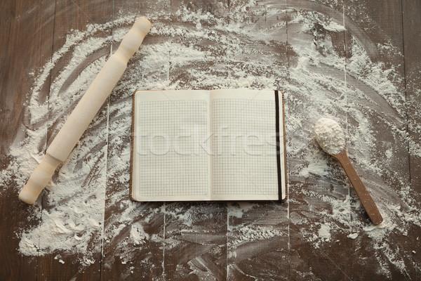 レシピ 図書 表 オープン 真ん中 麺棒 ストックフォト © julenochek