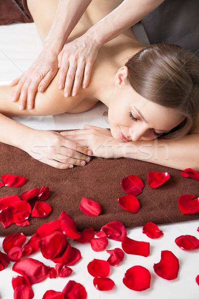 массажист массаж женщину тело Spa салона Сток-фото © julenochek