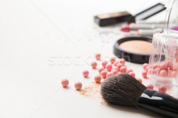 Brush and cosmetics Stock photo © julenochek