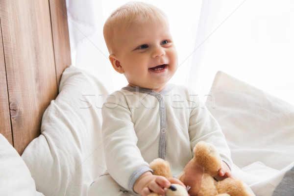 мало ребенка улыбаясь сидят Сток-фото © julenochek