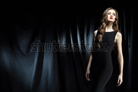 Sensuall woman in underwear, dark background Stock photo © julenochek