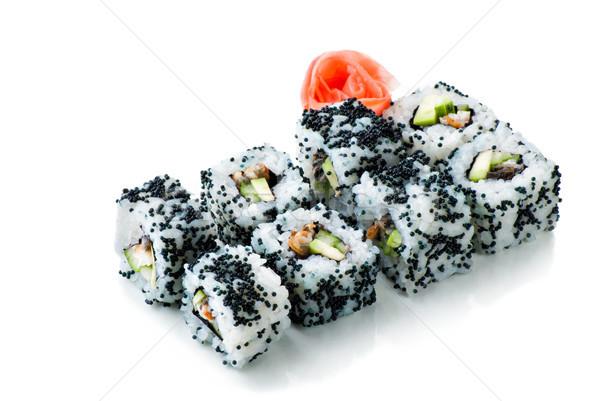 california sushi rolls on white isolated Stock photo © julenochek