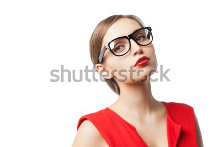 Beautiful fair-haired woman looking away Stock photo © julenochek
