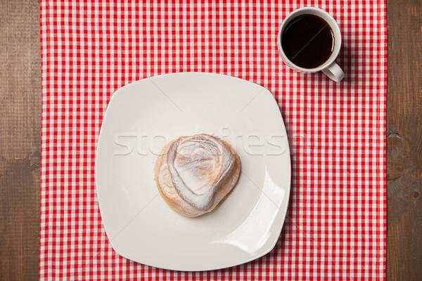 Kawy słodkie serwetka górę Zdjęcia stock © julenochek