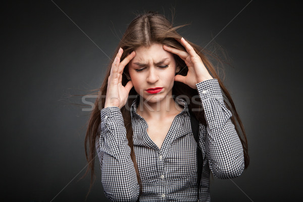 Woman hurts with headache. Stock photo © julenochek