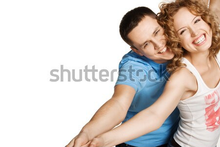 Stock photo: Attractive couple being playful