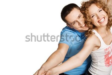 Attractive couple being playful Stock photo © julenochek