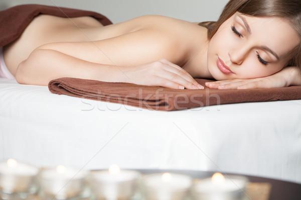 女性 スパ サロン マッサージ デスク 画像 ストックフォト © julenochek