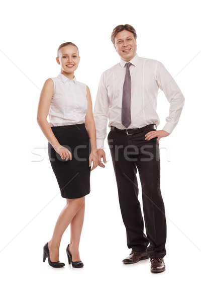 man and woman in formal clothes jackets off Stock photo © julenochek