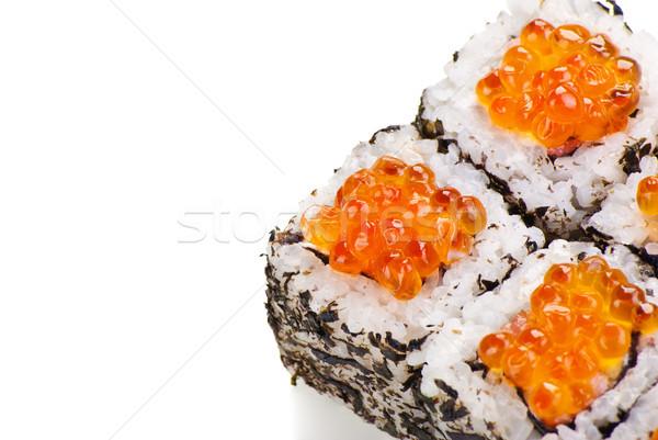 Hagyományos japán szusi kaviár fehér étel Stock fotó © julenochek