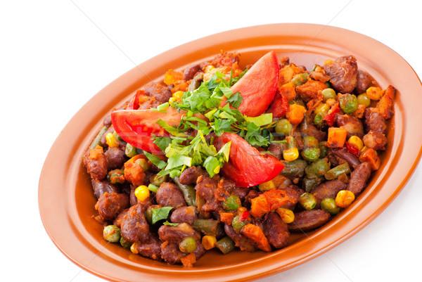традиционный мексиканских Chili почка бобов томатный Сток-фото © julenochek