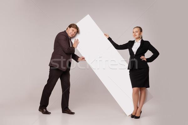 Woman Standing Over Man üzletember ·...