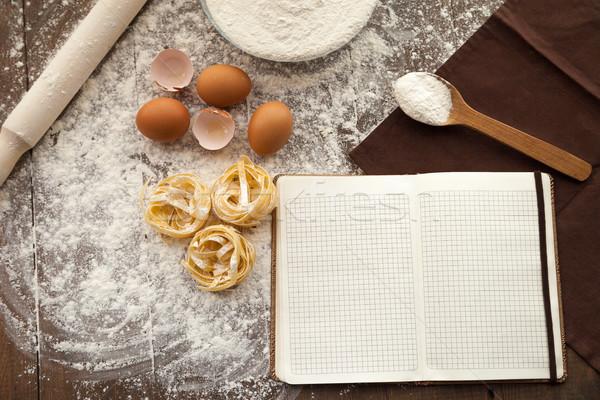Főzés ízletes étel ír lefelé recept Stock fotó © julenochek
