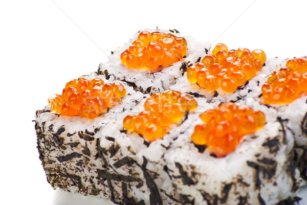 Japanese sushi with caviar on a white background Stock photo © julenochek