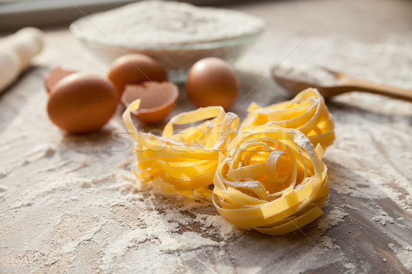 приготовления процесс мнение яйца мучной Сток-фото © julenochek