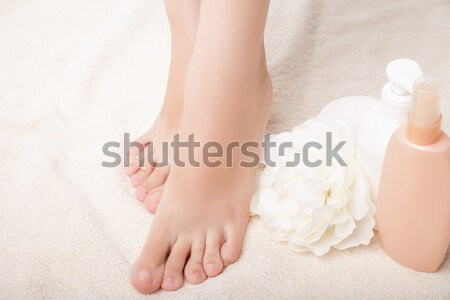 care for beautiful woman legs Stock photo © julenochek