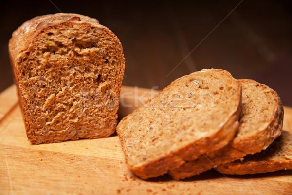 sliced rye bread on the board Stock photo © julenochek