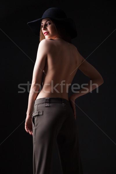 Belo jovem topless modelo seis retrato Foto stock © julenochek
