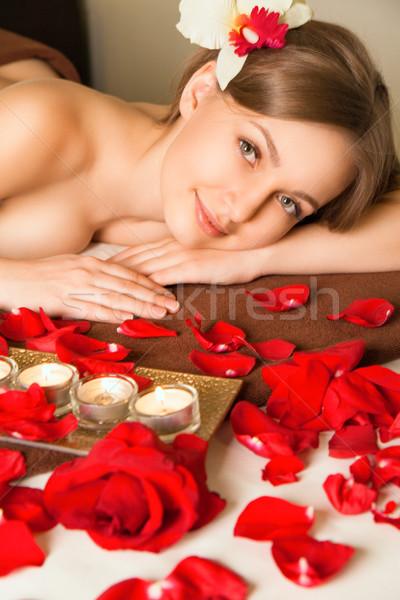 Bella spa massaggio giovani Foto d'archivio © julenochek