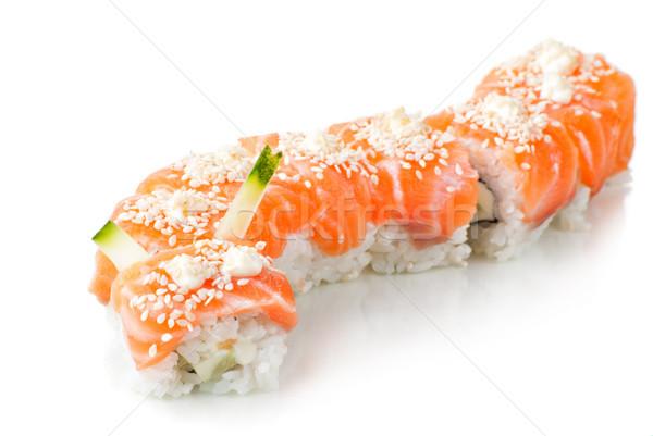 Japán szusi lazac hagyományos étel ázsiai Stock fotó © julenochek