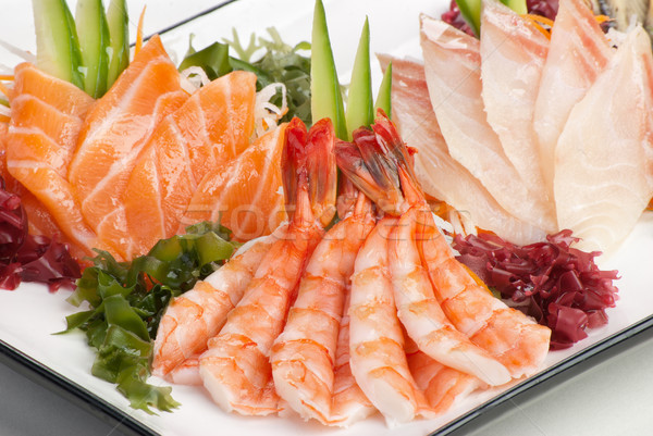 Set sashimi alghe cetriolo bianco ravanello Foto d'archivio © julenochek