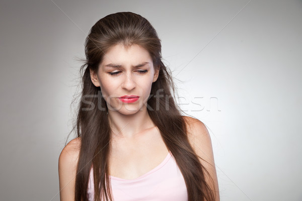 Upset woman feeling her guilty. Stock photo © julenochek