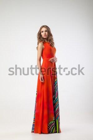 привлекательный молодые ярко красочный платье Сток-фото © julenochek