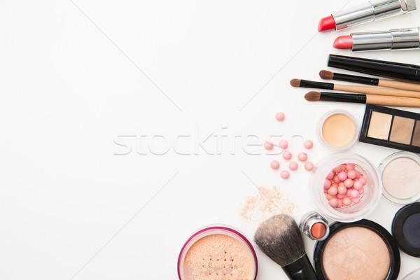 Stockfoto: Verschillend · vrouw · schoonheid · cosmetica · geïsoleerd · horizontaal