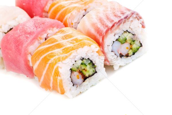 Rainbow Sushi with Cucumber and Cream Cheese Stock photo © julenochek