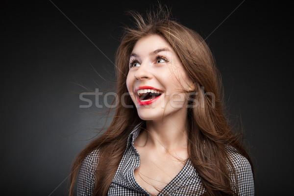 Pretty girl got shocked. Stock photo © julenochek