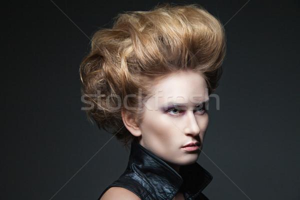 High fashion model genç güzel kadın Stok fotoğraf © julenochek