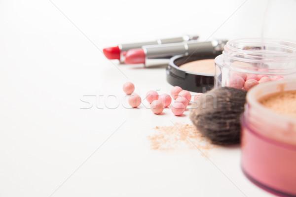 Különböző nő szépség kozmetika izolált vízszintes Stock fotó © julenochek