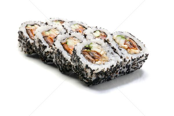 sushi rolls isolated on white background Stock photo © julenochek