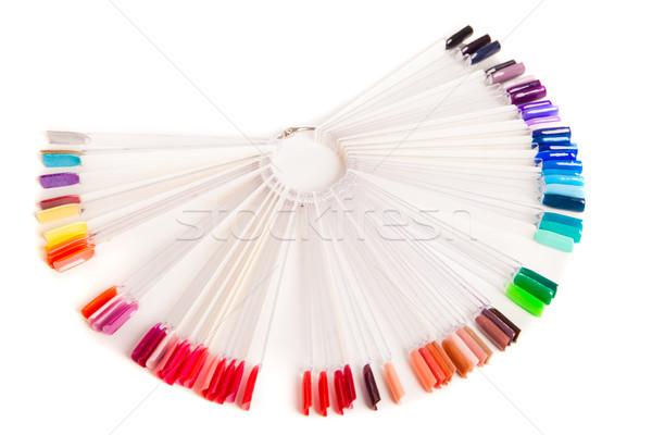 Kleurrijk palet nagel nagellak geïsoleerd Stockfoto © julenochek