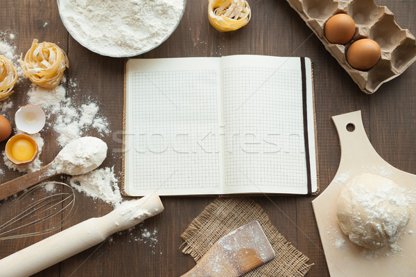 Delicious cuisine view from above. Stock photo © julenochek