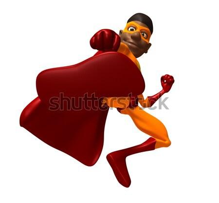 Stok fotoğraf: Süper · kahraman · eğlence · kırmızı · maske · sarı · çizme